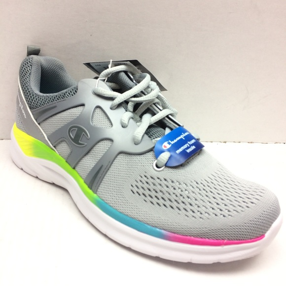 Champion Sneakers Shoes Rainbow Gray
